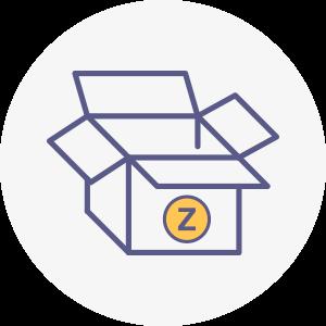 icones zebbre rond logistique