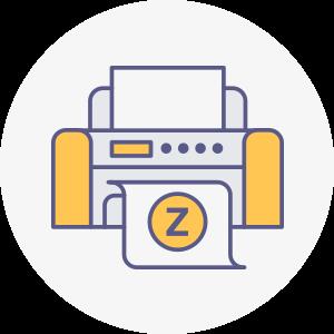 icones zebbre rond numérique