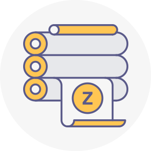 icones zebbre rond offset